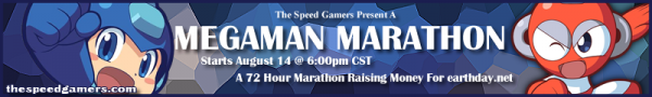 Mega Man Marathon (August 2009) Forum Banner by Kylethedarkn