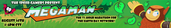 Mega Man Marathon (August 2009) Blog Banner by Anatotitan